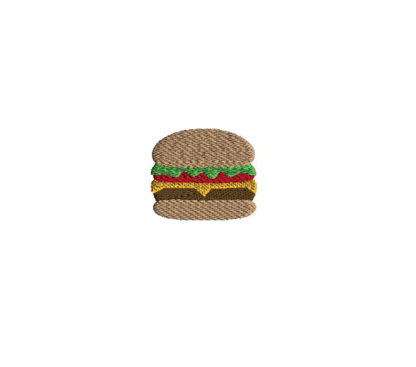Mini Hamburger Machine Embroidery Design