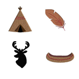 Mini Tribal Machine Embroidery Design Set