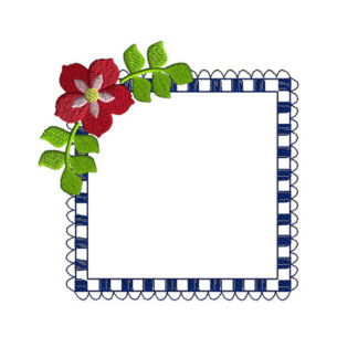 Square Frame Applique Machine Embroidery Design 1