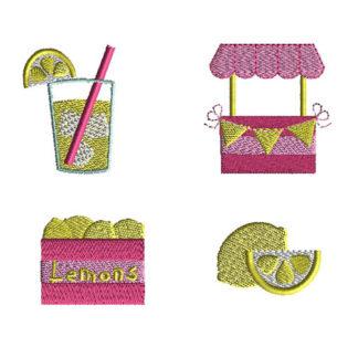 Mini Lemonade Machine Embroidery Design Set