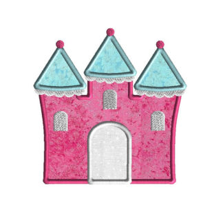 Castle 2 Applique Machine Embroidery Design 1