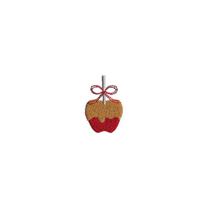 Mini Caramel Apple Embroidery Design