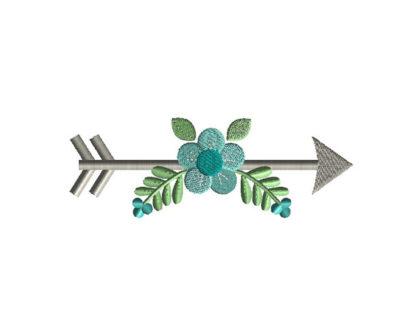 Arrow Flower Applique Machine Embroidery Design 2