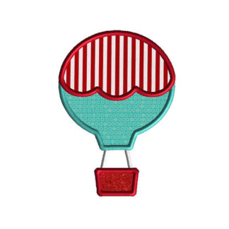 Hot Air Balloon 2 Applique Machine Embroidery Design 1