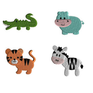 Mini African Animals Machine Embroidery Designs