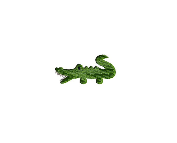 Mini Alligator Machine Embroidery Design