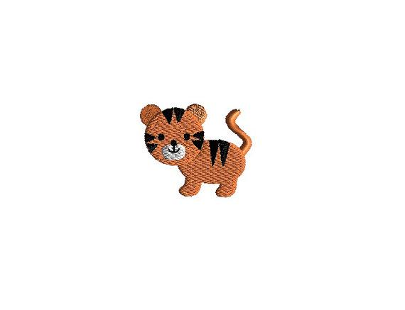Mini Tiger Embroidery Design