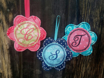 Flower Sachet-ITH- In the Hoop Applique Machine Embroidery Design 1