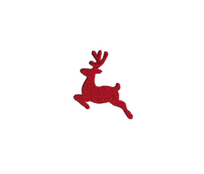 Mini Reindeer Silhouette Machine Embroidery Design 1
