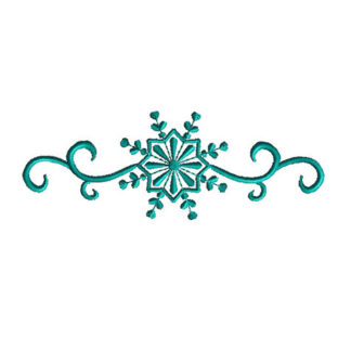 Snowflake Border Applique Machine Embroidery Design 1