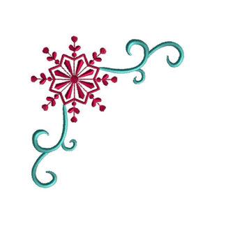 Snowflake Corner Applique Machine Embroidery Design 1