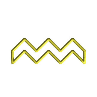 Chevron Applique Machine Embroidery Design 1