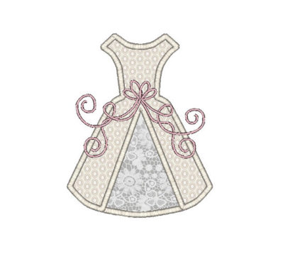Wedding Dress Applique Machine Embroidery Design 3