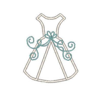 Wedding Dress Applique Machine Embroidery Design 2