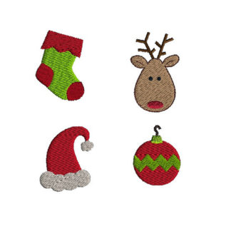 Mini Christmas Machine Embroidery Design Set