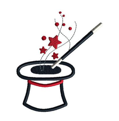 Magician Hat Applique Machine Embroidery Design 2