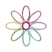 Daisy Stitch Applique Machine Embroidery Design 1
