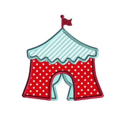 Circus Tent Applique Machine Embroidery Design 2