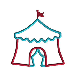 Circus Tent Applique Machine Embroidery Design 1
