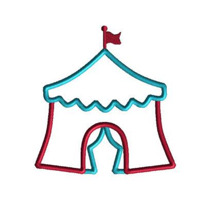 Circus Tent Applique Machine Embroidery Design 1