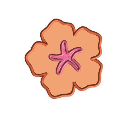 Hibiscus Applique Machine Embroidery Design 1