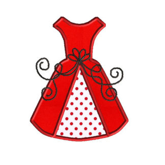 Wedding Dress Applique Machine Embroidery Design 1