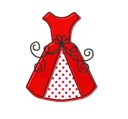 Wedding Dress Applique Machine Embroidery Design 1