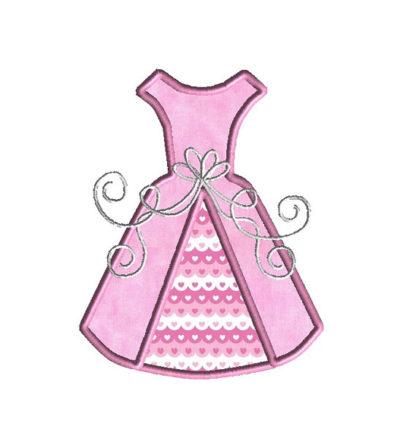 Wedding Dress Applique Machine Embroidery Design 4