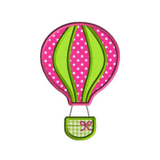 Hot Air Balloon Applique Machine Embroidery Design 1