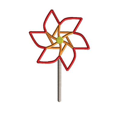 Pinwheel Applique Machine Embroidery Design 2