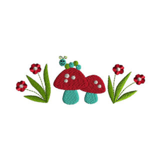 Garden Border Applique Machine Embroidery Design 1