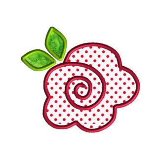 Rose Applique Machine Embroidery Design 1
