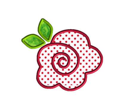 Rose Applique Machine Embroidery Design 1