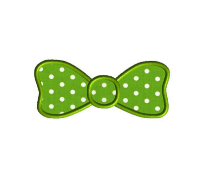 Bow Tie Applique Machine Embroidery Design 4