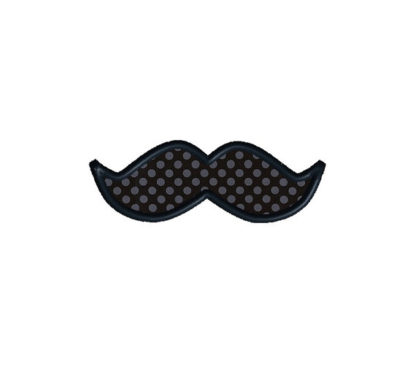Mustache Pack Applique Machine Embroidery Design 2