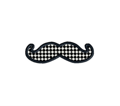 Mustache Pack Applique Machine Embroidery Design 3
