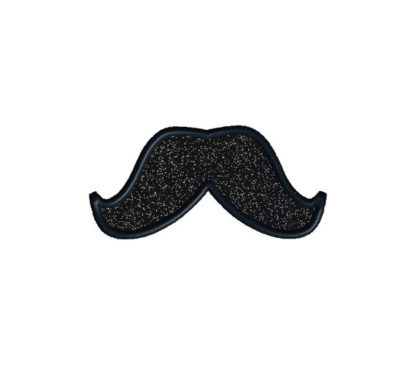 Mustache Pack Applique Machine Embroidery Design 5