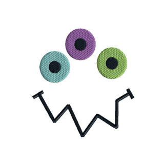 Monster Face 4 Applique Machine Embroidery Design 1