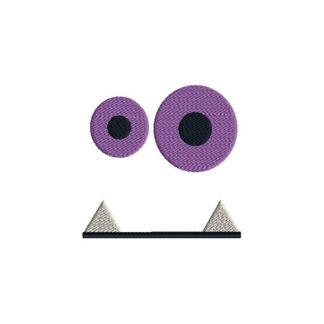 Monster Face 3 Applique Machine Embroidery Design 1