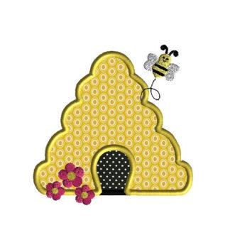Bee Hive Applique Machine Embroidery Design 1