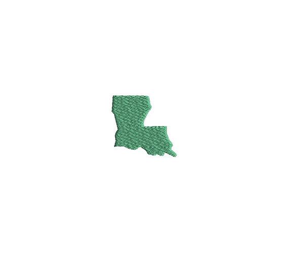 Mini Louisiana State Shape Machine Embroidery Design