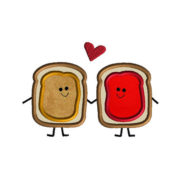Peanut Butter and Jelly Love Applique Machine Embroidery Design 1