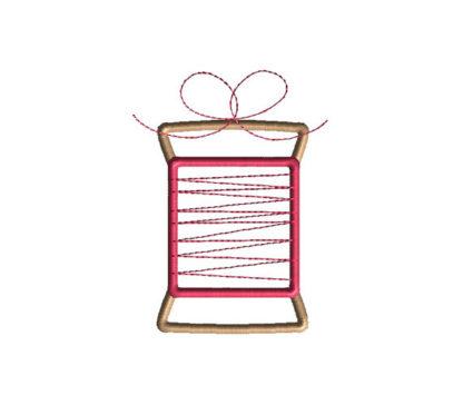 Spool of Thread Applique Machine Embroidery Design 1