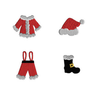 Mini Santa Suit Machine Embroidery Design Set