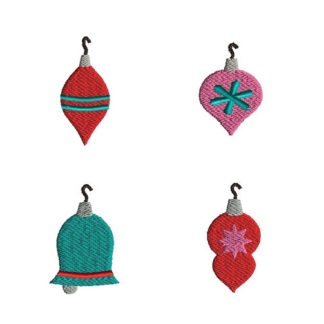Mini Christmas Ornaments Machine Embroidery Design Set