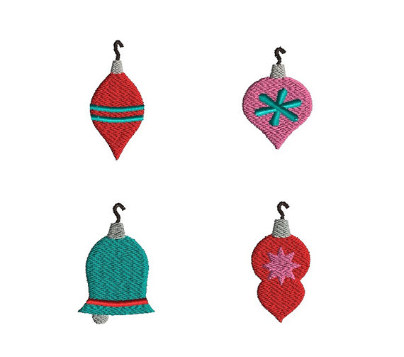 Christmas Ornaments Machine Embroidery Design Set