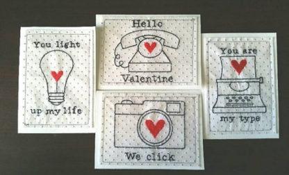 Valentine Typewriter Applique Machine Embroidery Design 3