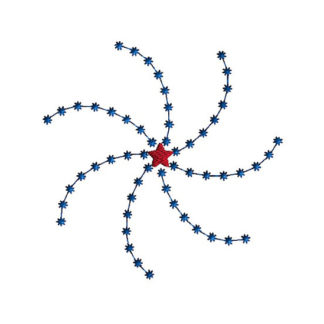 Firework Machine Embroidery Design 1