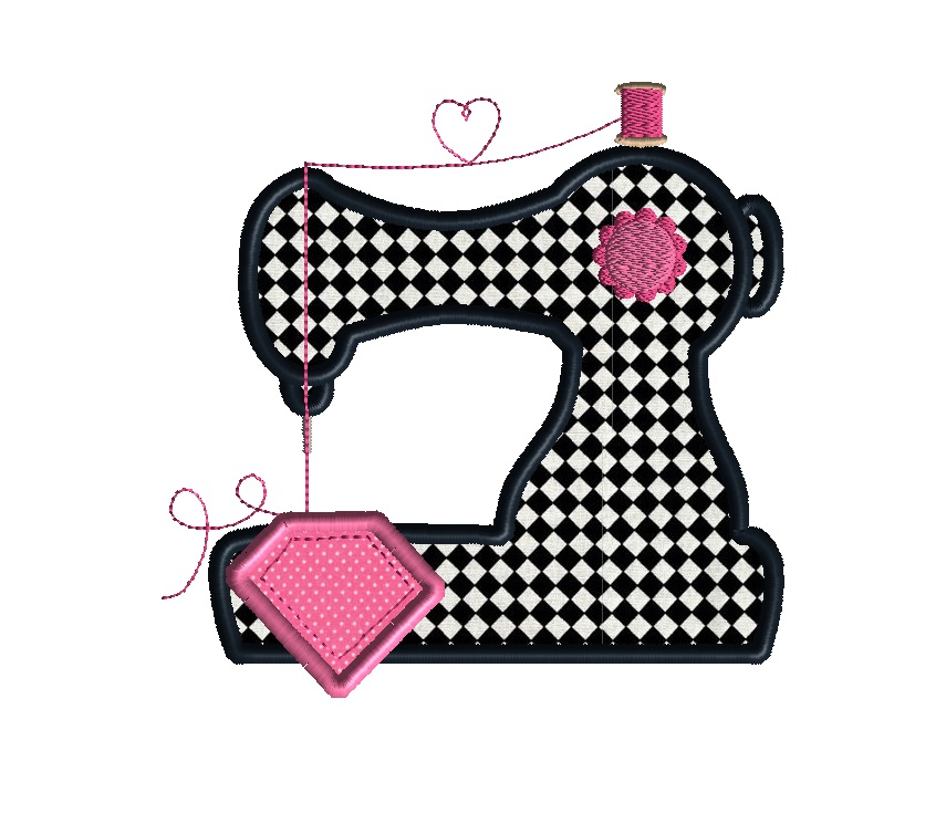 Sewing machine applique machine embroidery design for Appliques design