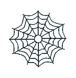 Mini Spider Web Machine Embroidery Design